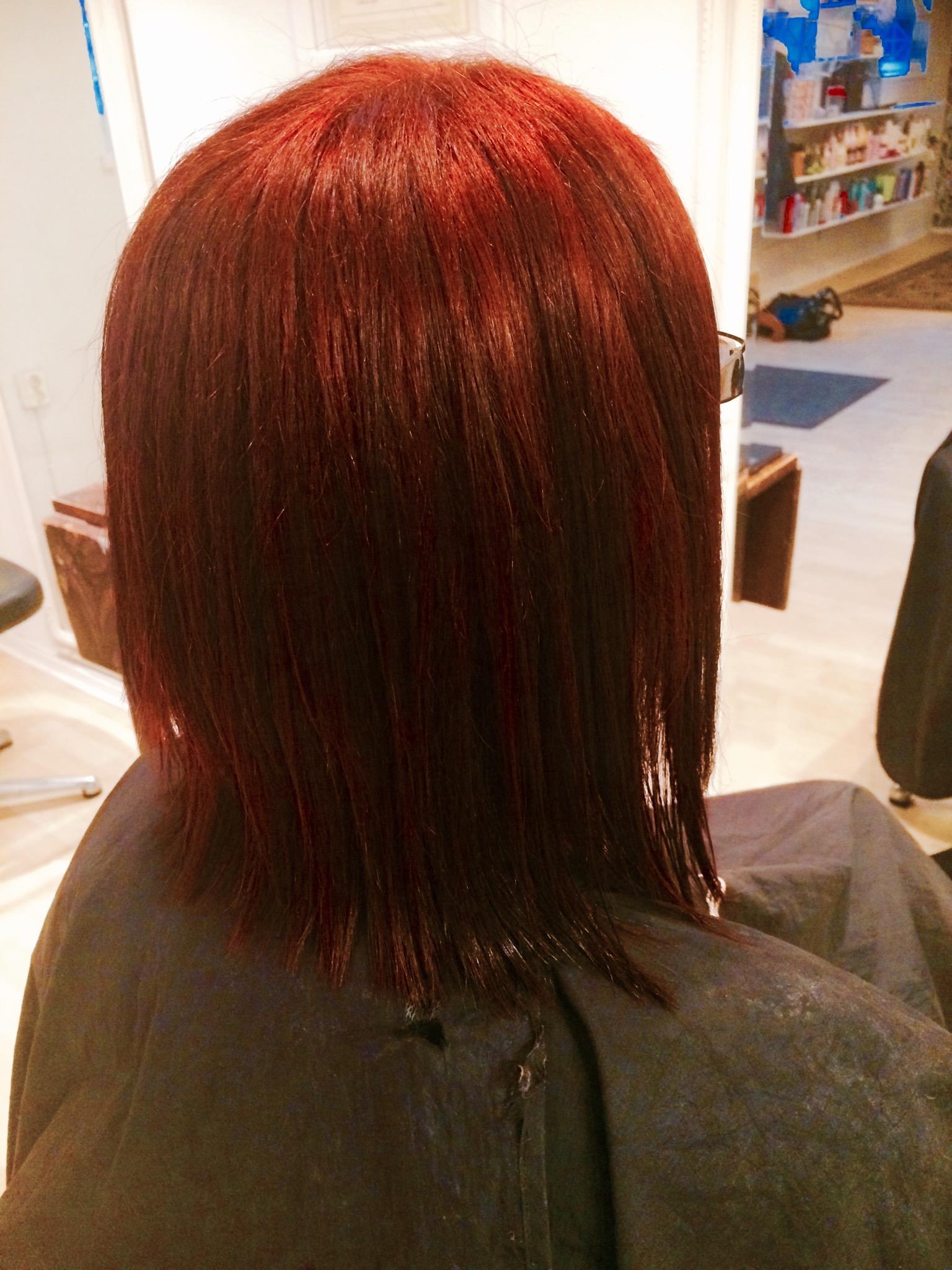 färgschampo rött hår
